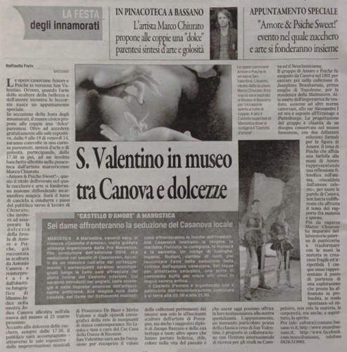 Amore e Psiche gazzettino13-02-14