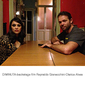 DIMINUTA-backstage film Reynaldo Gianecchini-Clarice Alves copia